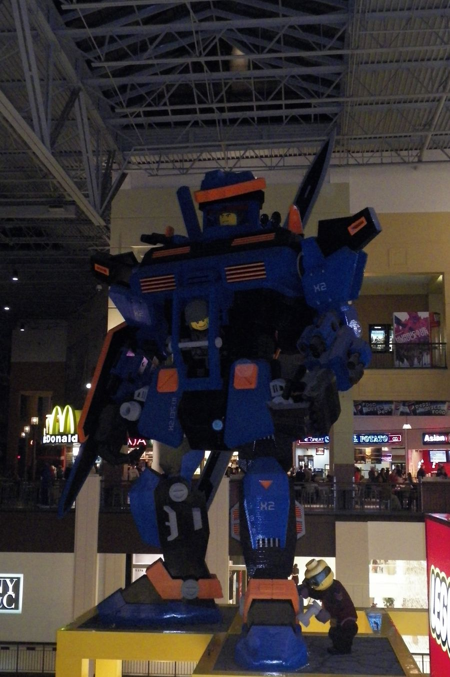 Huge AND made out of Legos!
