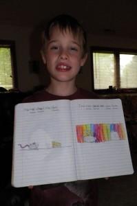 Gavin's 2 page story written solely by him.