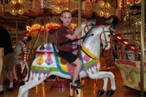 Zander, the only one who rode on a horse