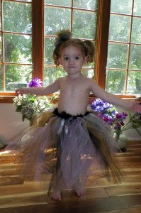 This is Echo's one year dress, now a tutu skirt... LOVE IT