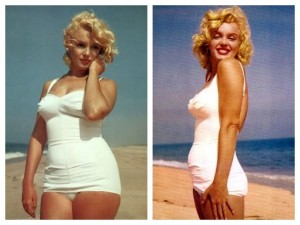 Image of Marily Monroe thanks to the blog Diverse Philosophies who has a wonderful article attached to this about cosmetics and body image.