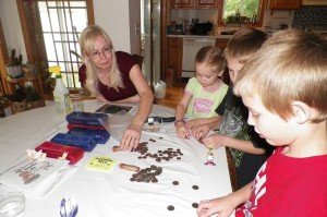 Sorting the Grandma American Change she brought the kids