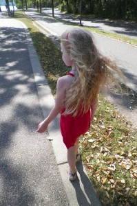Sometimes I wonder if the wind doesn't just want to play with her hair!