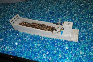 Ok, so the bullets aren't Lego... but the water is all those tiny clear ones!!!!