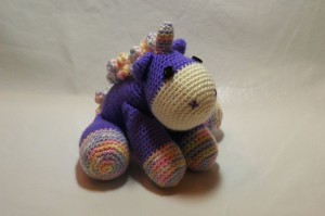 I am rather proud of Lil' Unicorn. I have sold TWO of these! One in colours requested and the other the same as pictured only with safety eyes for an infant. I have this cutey listed on Etsy!