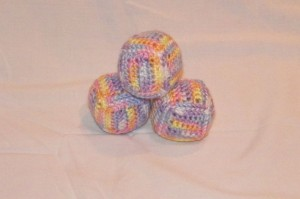 Soft baby blocks. This set of 3 are so sweet. I love variegated yarns. These are not the least bit stiffened so wonderful for any age or to display. For sale on Facebook HERE.