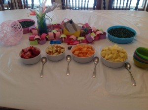Which led to a FRUIT SALAD BAR for supper!