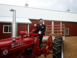 Anthony on the tractor