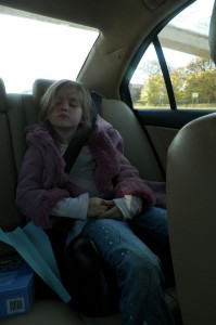 As did Trinity on the way home from Scouts Day Camp.