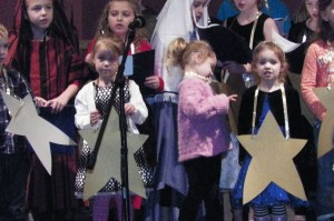 Our littlest star... she even sang some of the words!!!