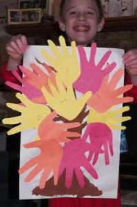 Thankful hands tree
