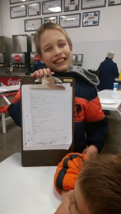 Zander and the twins' Thanksgiving grocery list