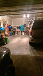 HUGE accomplishment of Ken's - two car garage HOLDS TWO CARS!