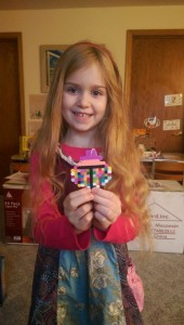 Trinity and her very special Christmas ornament from her penpal Ella!