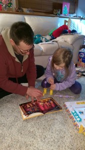 Goldie Bloks with Daddy
