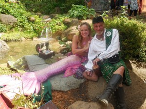 A mermaid and a Scotsman! What a duo!