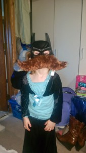 Batgirl in disguise... Mustache style.. thanks Alex!