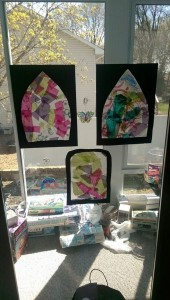 Our Easter stained glass windows.