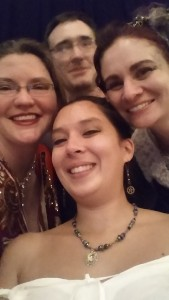 One of Amy's fun selfies (on left) with Trish