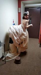 Dress repair! Amy Sue you rock!