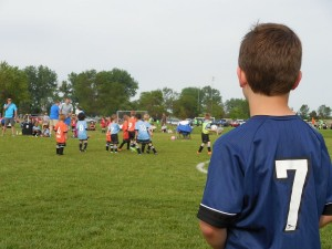 Nathan watching his brother before HIS game