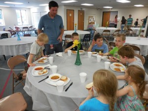 end of VBS dinner