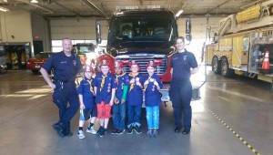 Scouts at the Firestation!