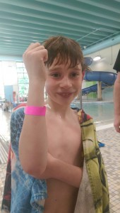 Look who got their bracelet to access all pools!
