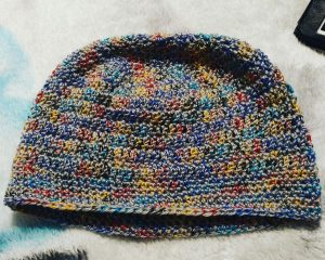 Yarn was purchased and a hat requested... not half bad!