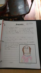 One of our mini biographies.