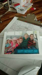 Our cards for the mothers