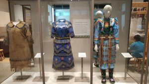 Amazing beaded dresses display too.