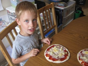 Gavin and His Interpretation On Pizza :)