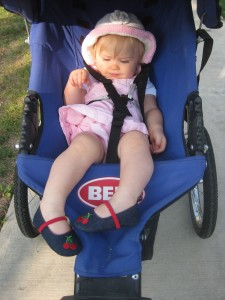 Jogging Stroller in Her Cherry Shoes