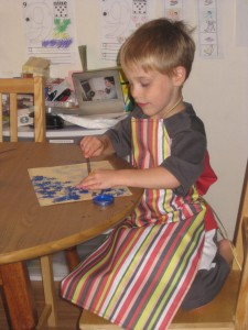 Gavin Painting His Pieces