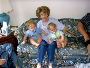 Zander and Gavin With Their Great Grammy 2005