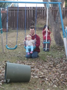 Big Girl on the Swing (Ken even let go a bit and she LIKED it! Gavin)