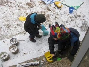 SNOW! (Gavin left)