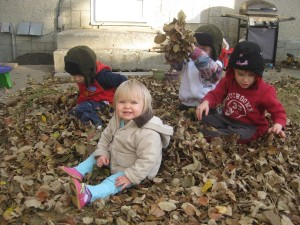 Babies in the Leaves (Gavin red)