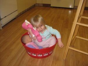 Babies in a Bucket!