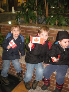 Because no matter how stupid the bank is we still do love living in Canada! (Zander left)